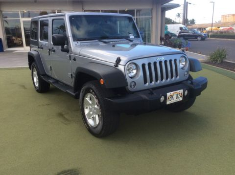 Pre-Owned 2014 Jeep Wrangler Unlimited Sport Four Wheel Drive SUV