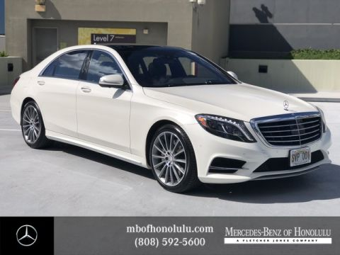 Certified Pre-Owned 2015 Mercedes-Benz S-Class S 550 Rear Wheel Drive Sedan